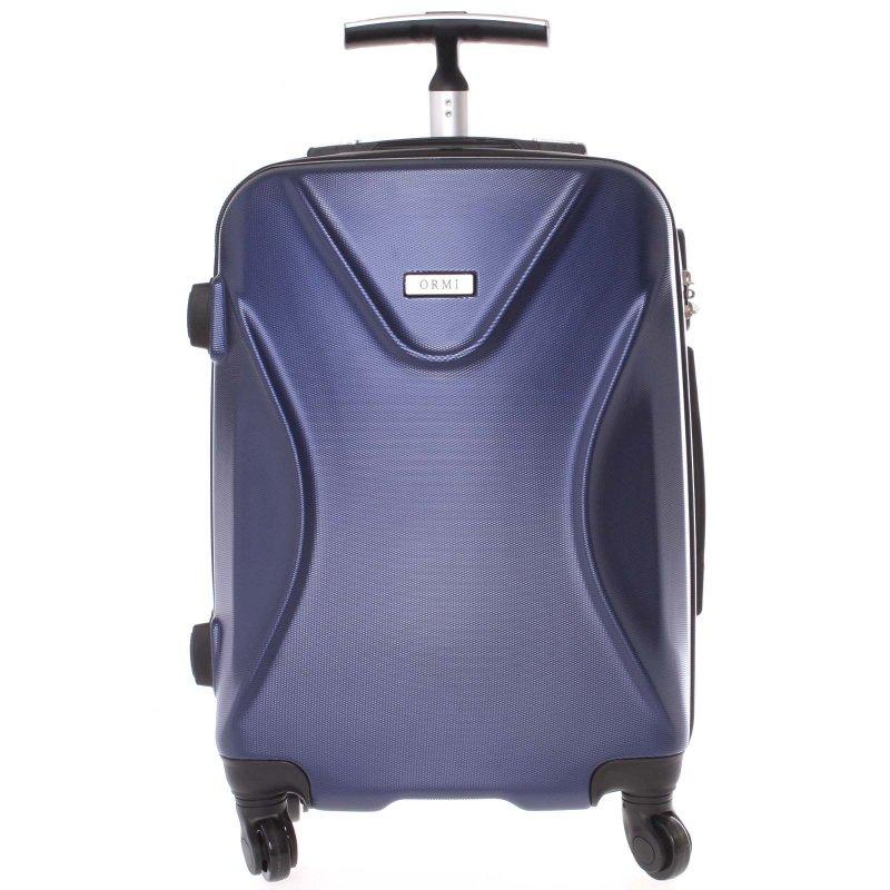 Cestovní kufr Ormi modrý, vel. II, 4 kolečka