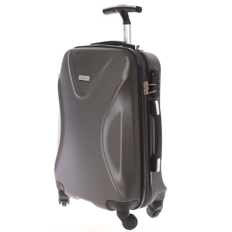 Cestovní kufr Ormi tmavě šedý, vel. I, 4 kolečka