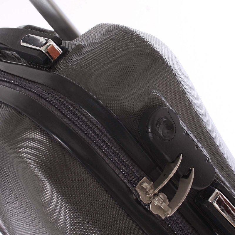 Cestovní kufr Ormi tmavě šedý, vel. II, 4 kolečka