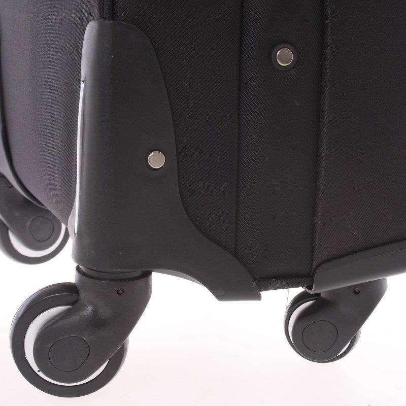 Kvalitní látkový kufr ORMI vel. I, 4. kolečka, černý