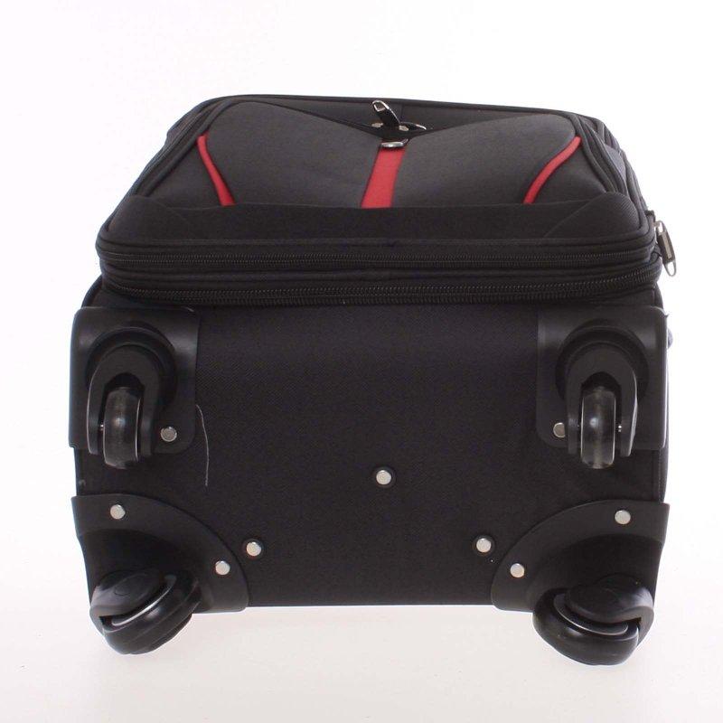 Kvalitní látkový kufr ORMI vel. II, 4. kolečka, černý
