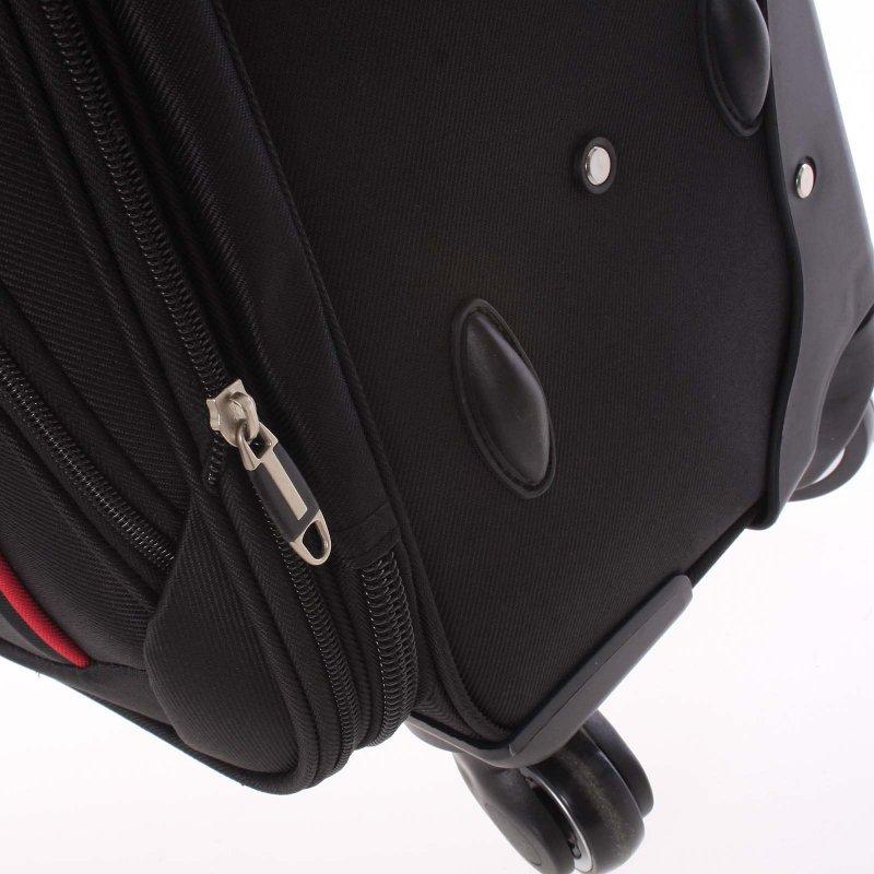 Kvalitní látkový kufr ORMI vel. III, 4. kolečka, černý