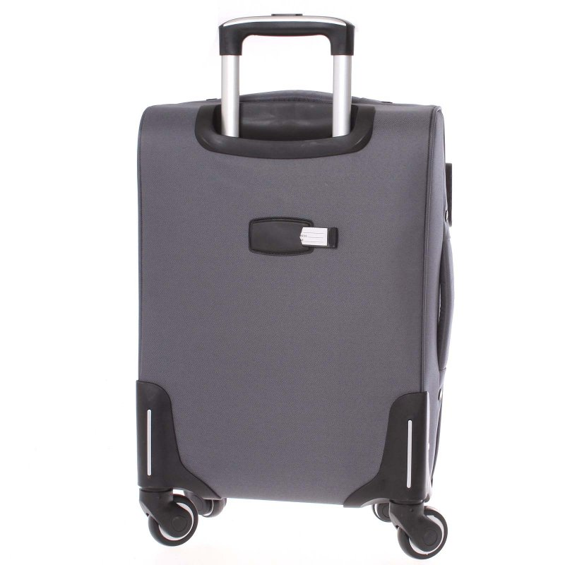 Kvalitní látkový kufr ORMI vel. II, 4. kolečka, šedý