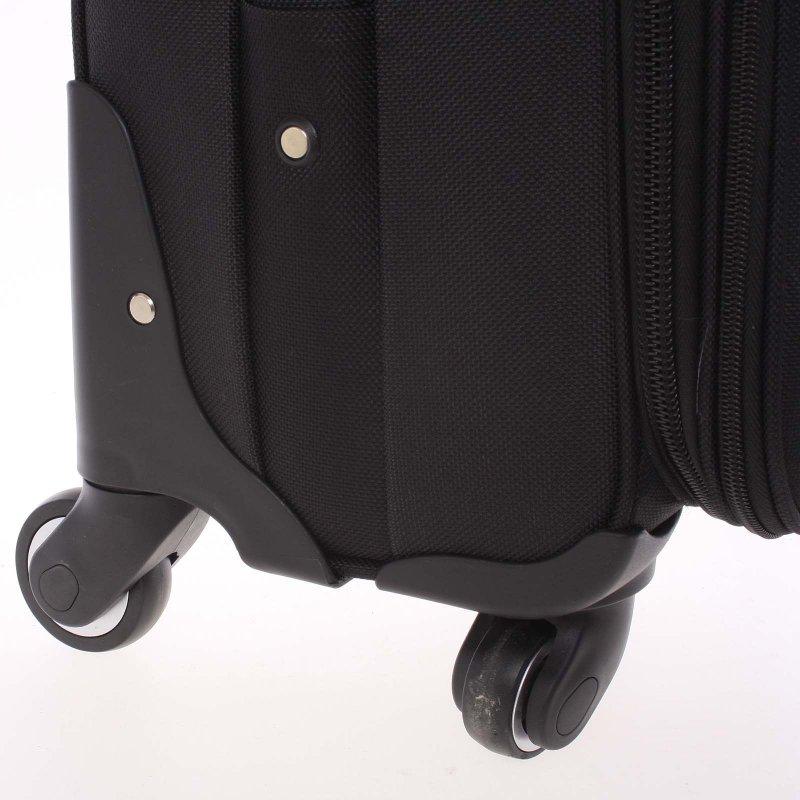 Černý látkový pevný kufr vel. 1, 4. kolečka