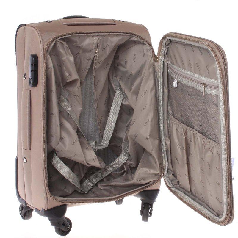 Champaň látkový cestovní kufr vel. II, 4. kolečka