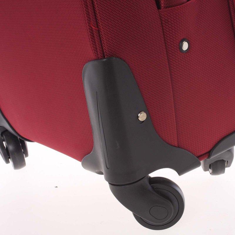 Látkový kufr Ormi červený vel. I, 4. kolečka