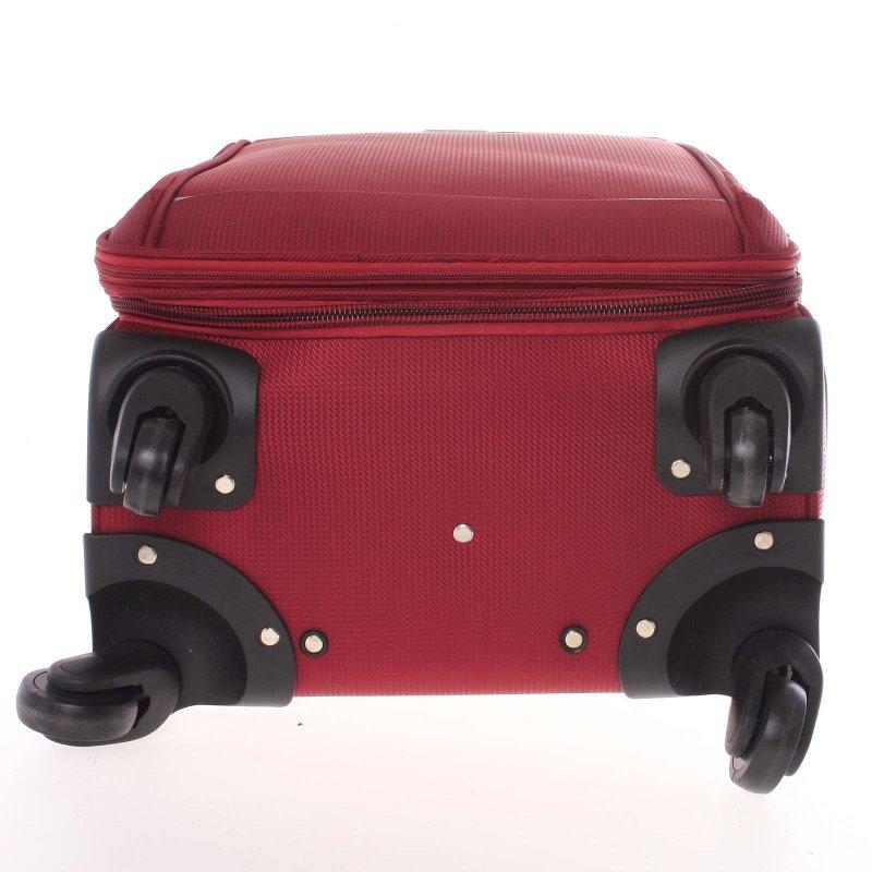 Látkový kufr Ormi červený vel. II, 4. kolečka