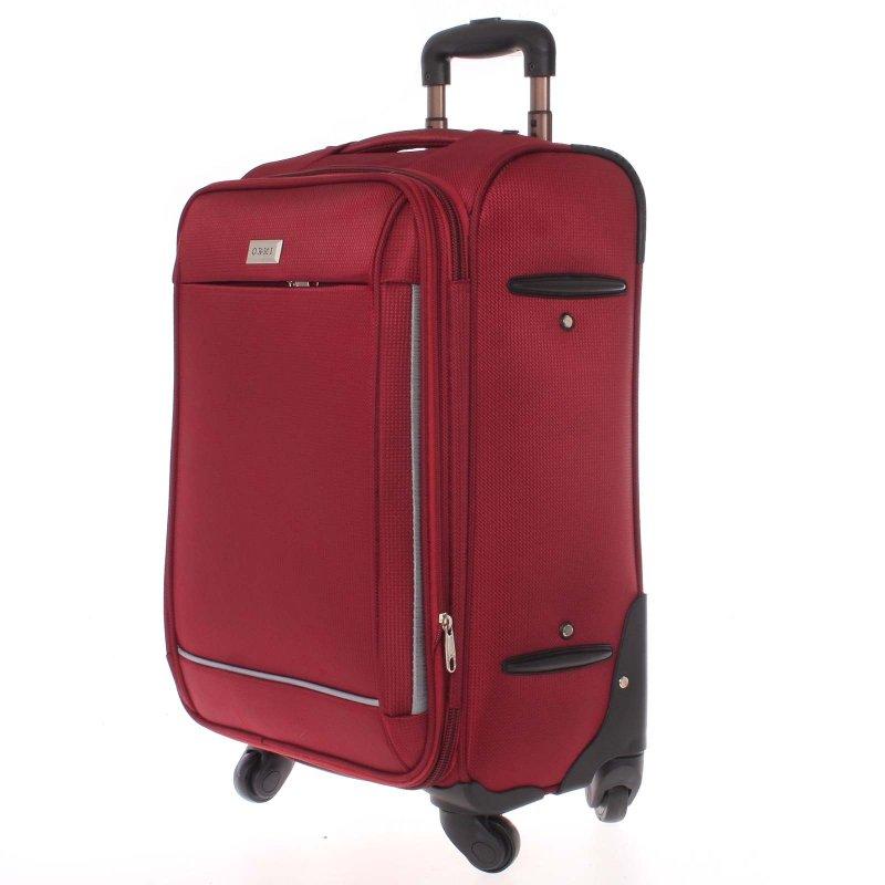 Látkový kufr Ormi červený vel. III, 4. kolečka