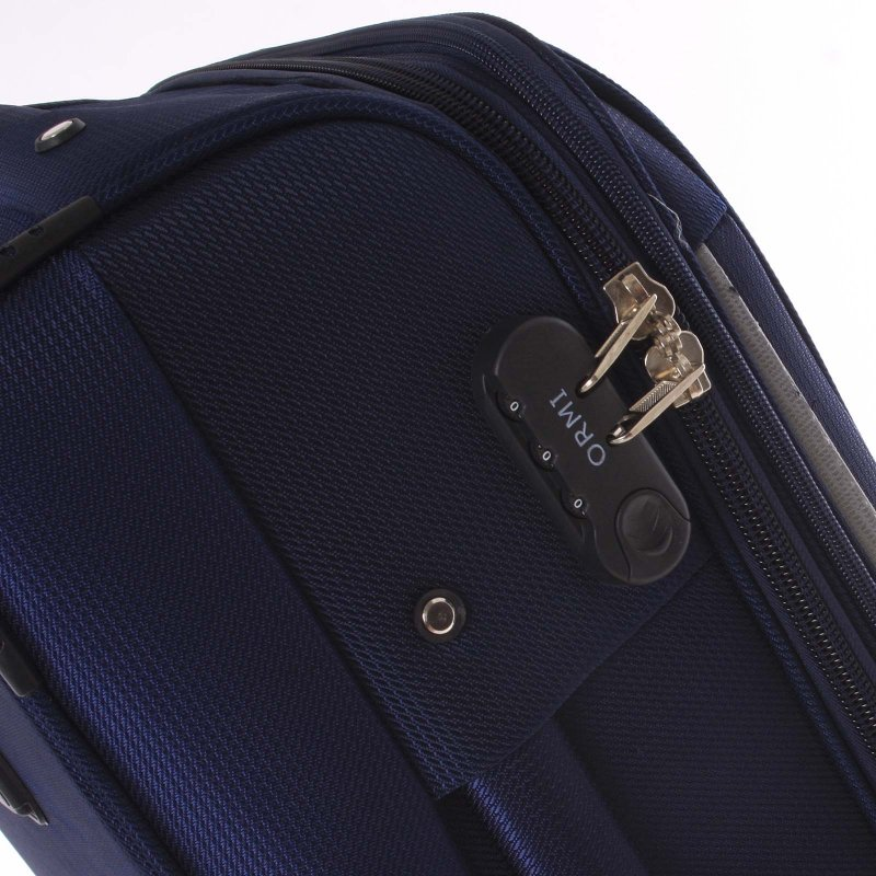Látkový kufr Ormi modrý vel. II, 4. kolečka