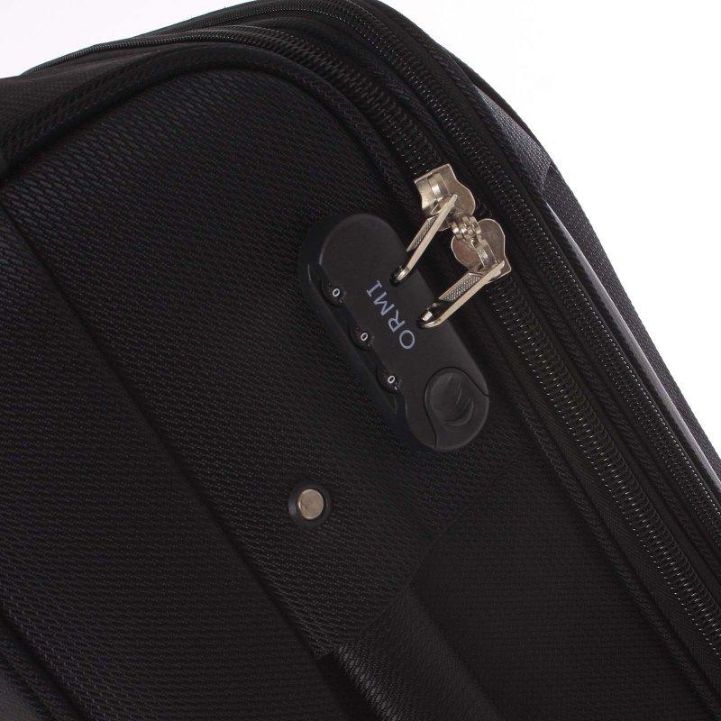 Látkový kufr Ormi černý vel. I, 4. kolečka