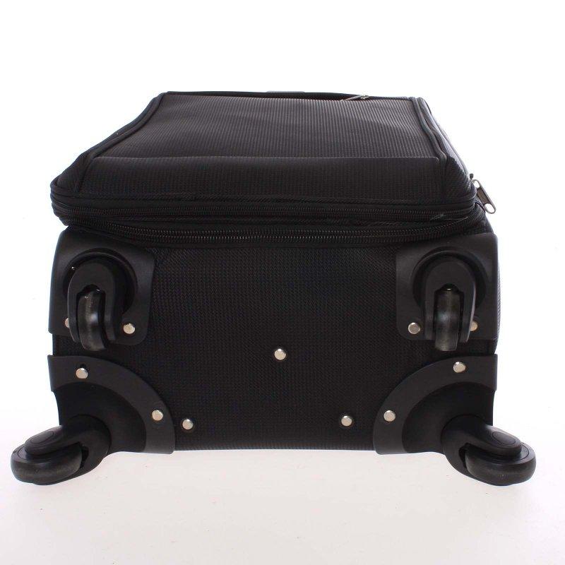 Látkový kufr Ormi černý vel. III, 4. kolečka