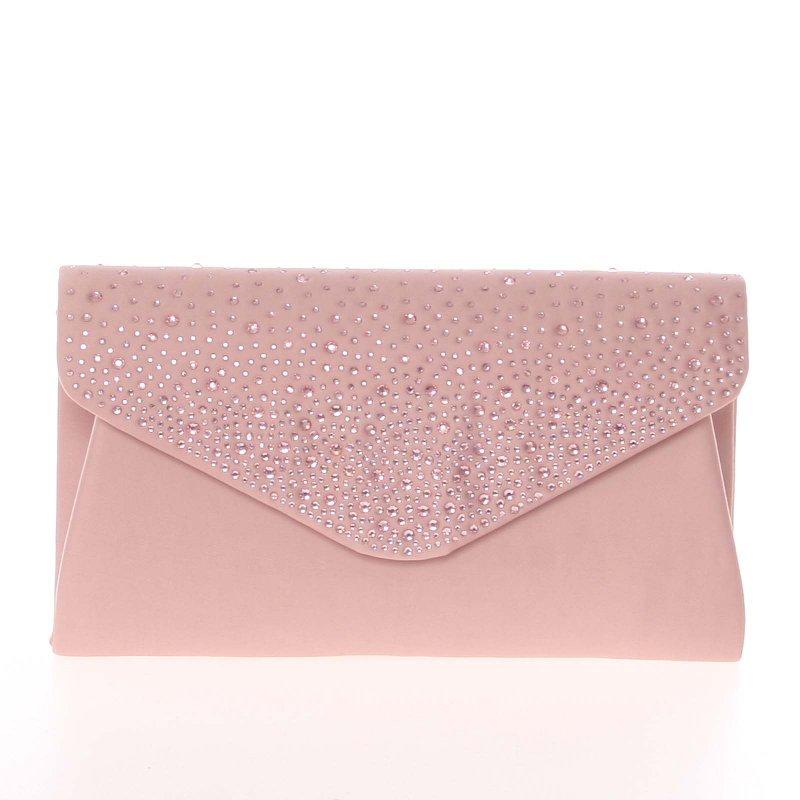 Luxusně zdobené psaníčko Mabel, růžové