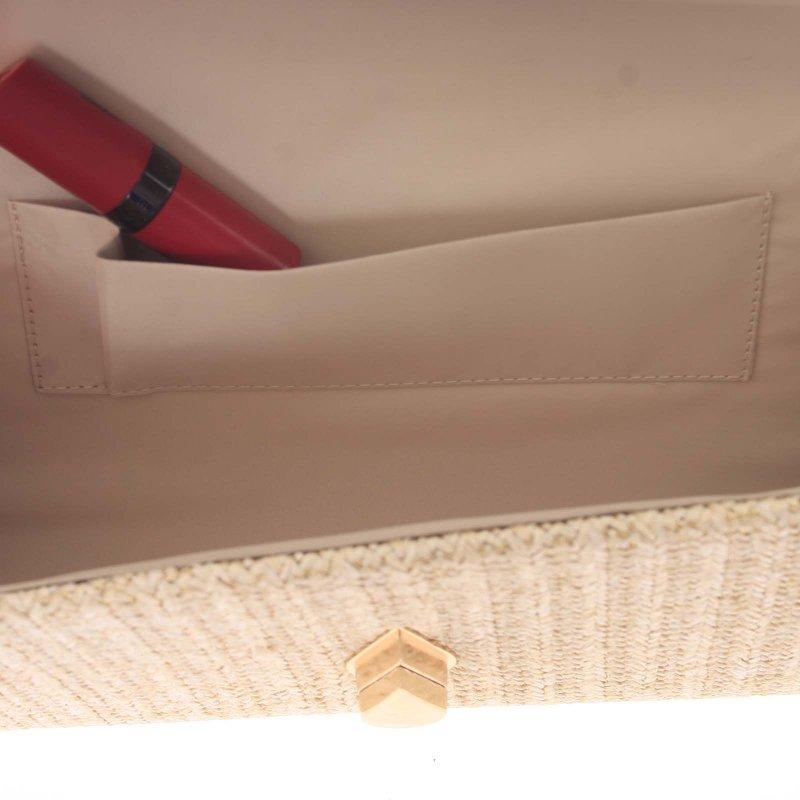 Stylové crossbody psaníčko luxusní slza Wendy, krémově bílé