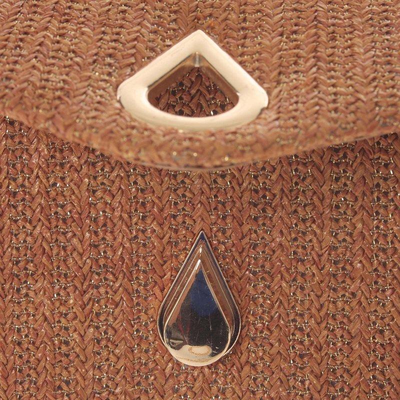 Stylové crossbody psaníčko luxusní slza Wendy, bronzově-hnědá