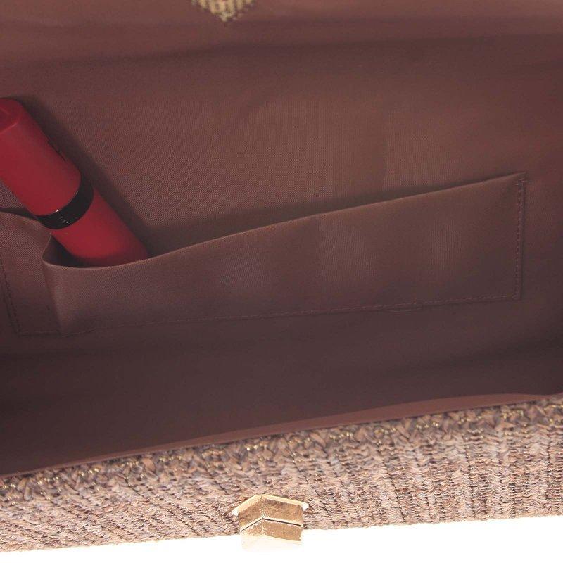 Stylové crossbody psaníčko luxusní slza Wendy, hnědé