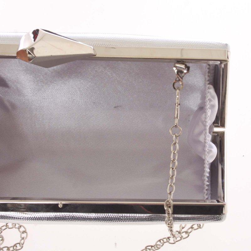 Originální dámské crossbody psaníčko Erica, stříbrné