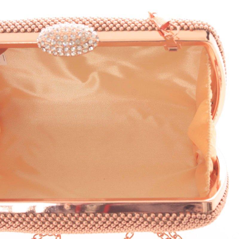 Luxusní dámské psaníčko Charlotte, zlato-růžové