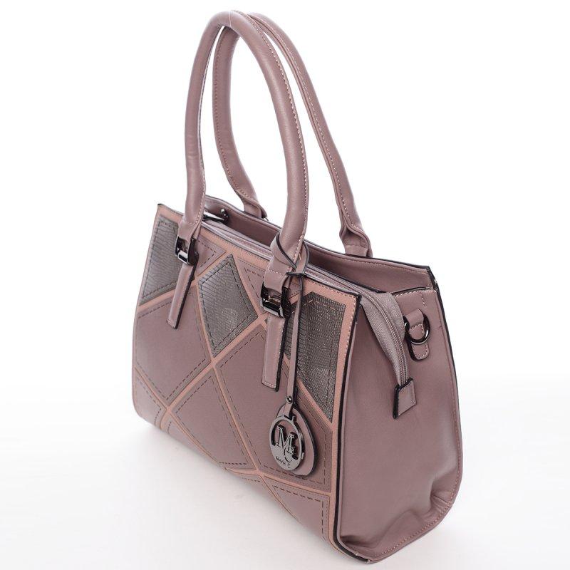 Stylová dámská kabelka do ruky i přes rameno Alexia, růžová