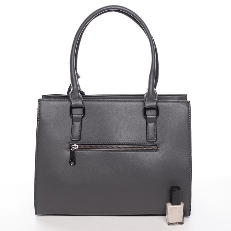 Stylová dámská kabelka do ruky i přes rameno Alexia, šedá