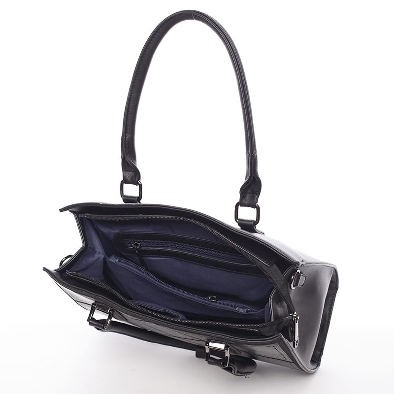 Stylová dámská kabelka do ruky i přes rameno Alexia, černá