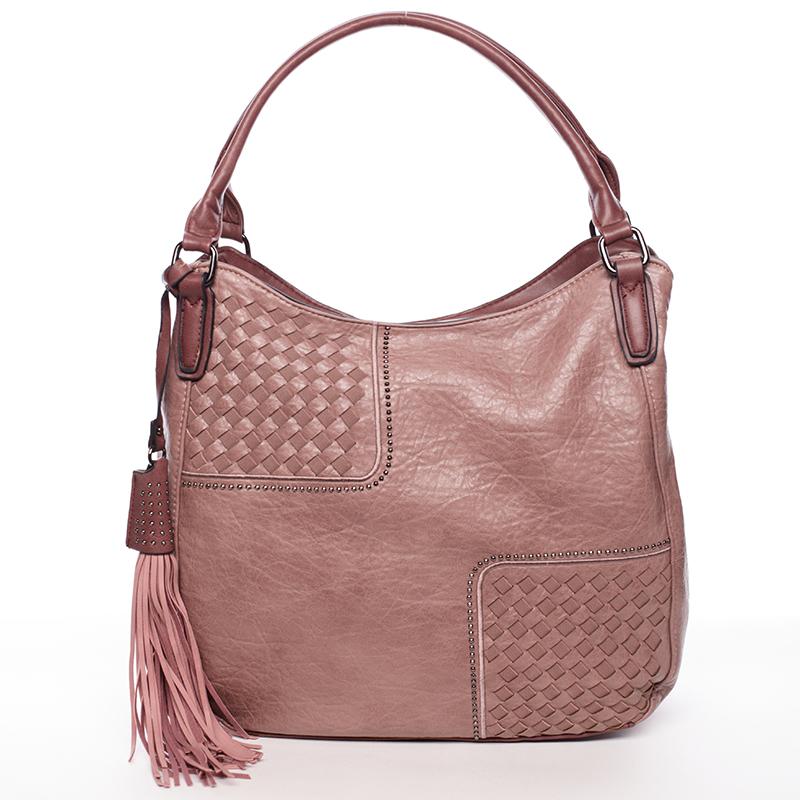 Měkká příjemně poddajná dámská kabelka Dolores, růžová