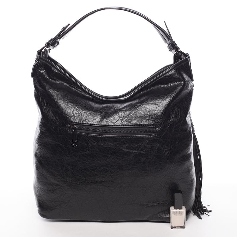 Prostorná dámská měkká kabelka Rebeca, černá
