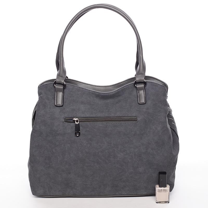 Elegantní kabelka s ozdobným prvkem Fátima, šedá