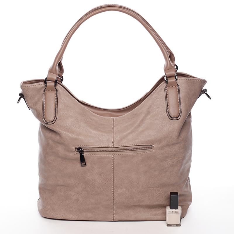 Dámská stylově propracovaná kabelka Viviana, hnědá s nádechem růžové