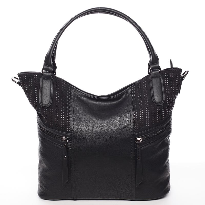 Dámská stylově propracovaná kabelka Viviana, černá