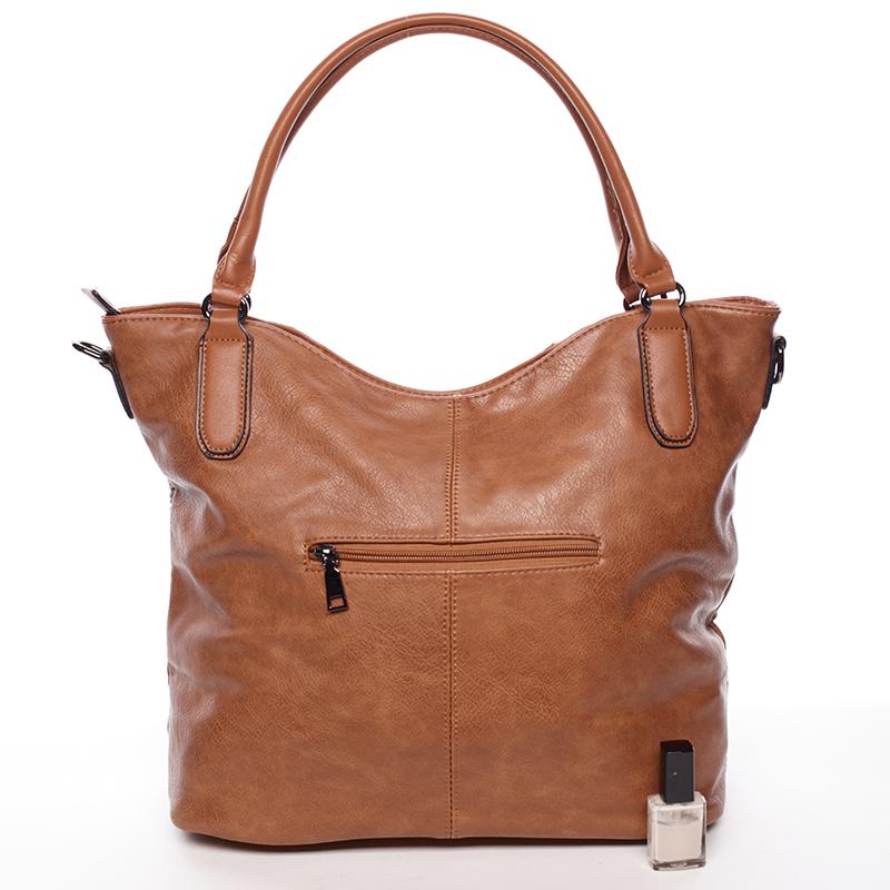 Dámská stylově propracovaná kabelka Viviana, hnědá