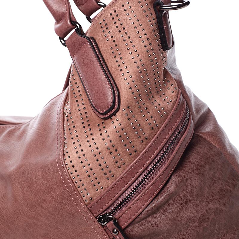 Dámská stylově propracovaná kabelka Viviana, růžová