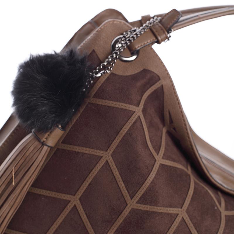 Prostorná dámská kabelka Paola, hnědá