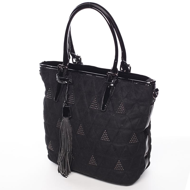 Elegantně prošívaná dámská kabelka Debora, černá