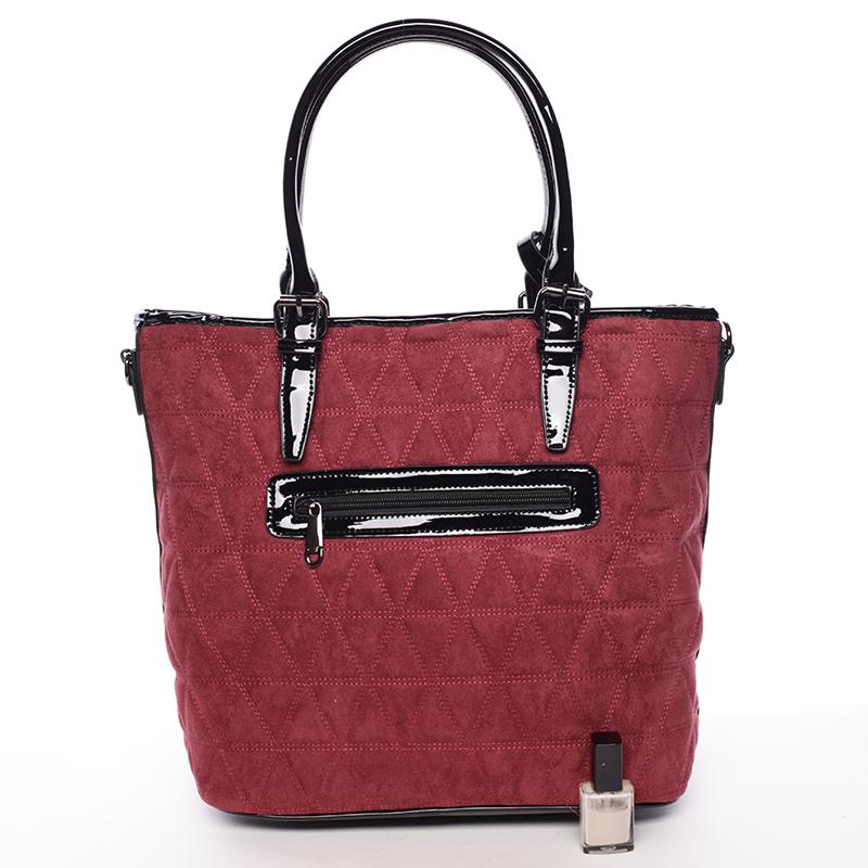 Elegantně prošívaná dámská kabelka Debora, vínově červená