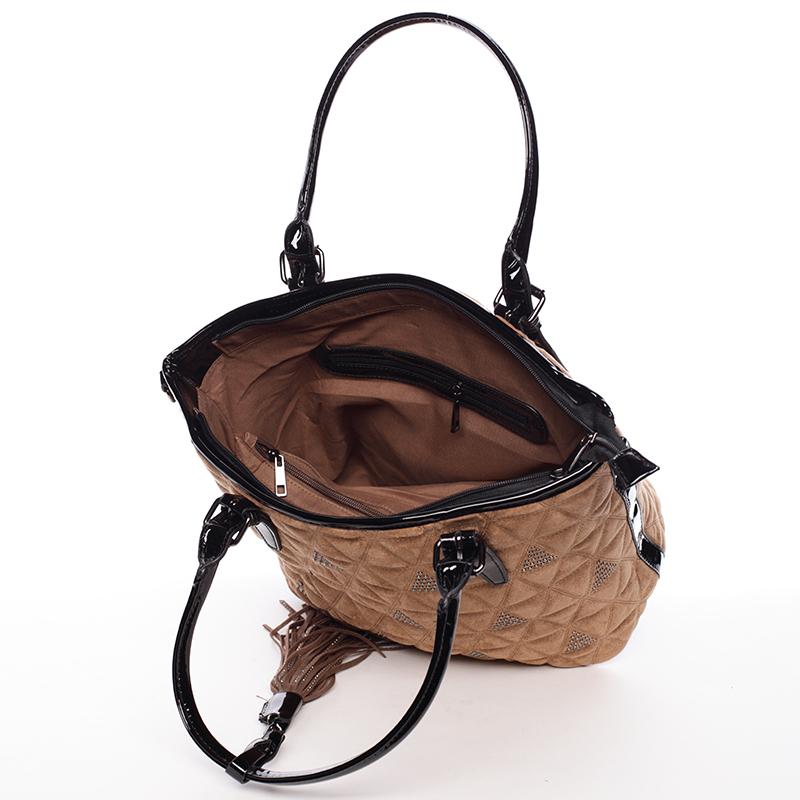 Elegantně prošívaná dámská kabelka Debora, hnědá