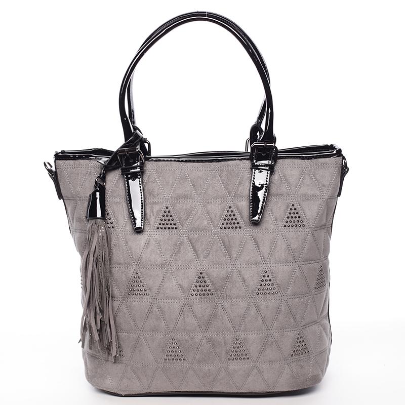 Elegantně prošívaná dámská kabelka Debora, šedá