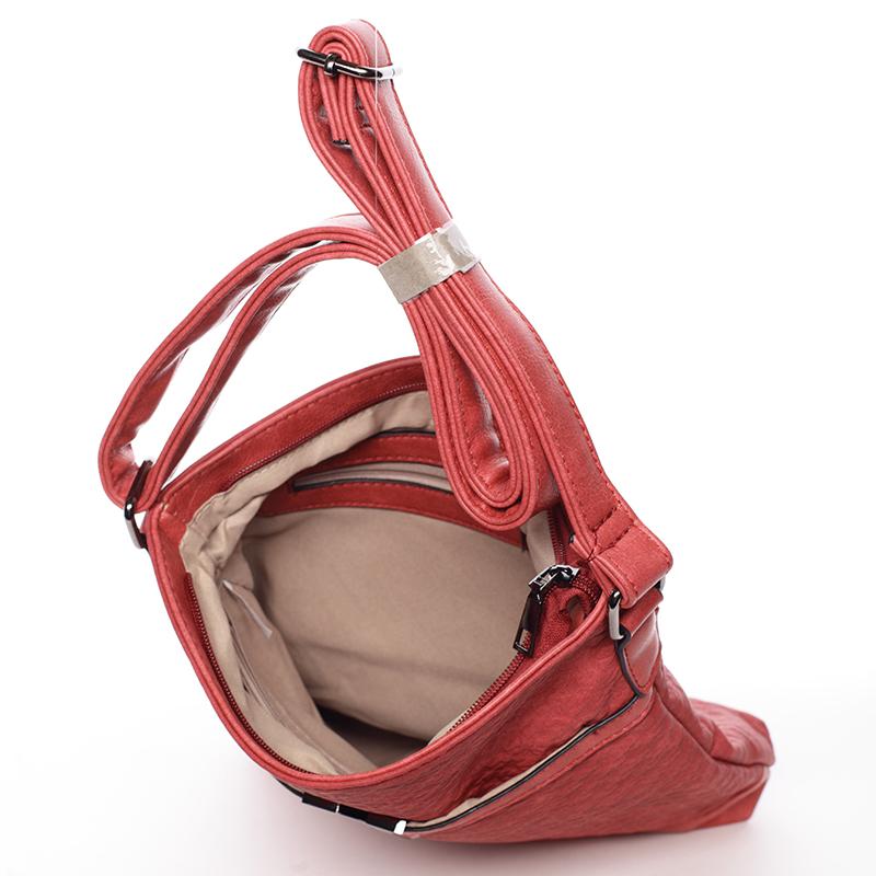 Červená dámská crossbody kabelka Josette