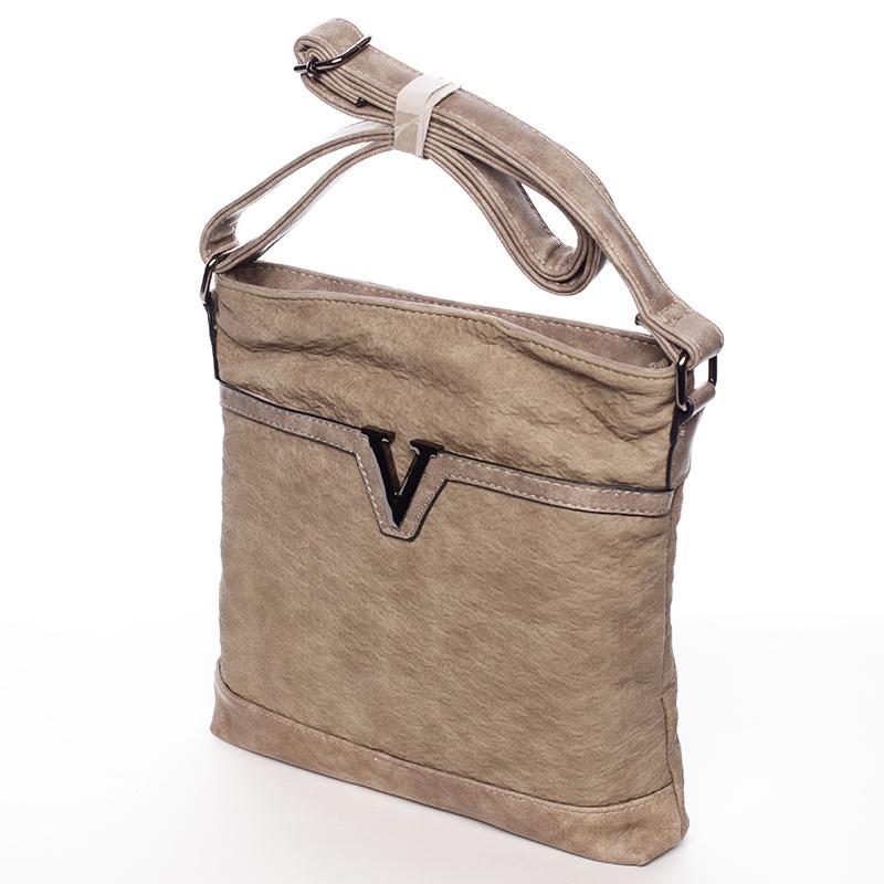 Krémově-hnědá dámská crossbody kabelka Josette