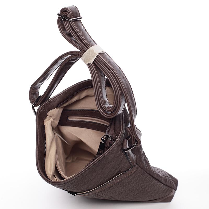 Hnědo-šedá dámská crossbody kabelka Josette