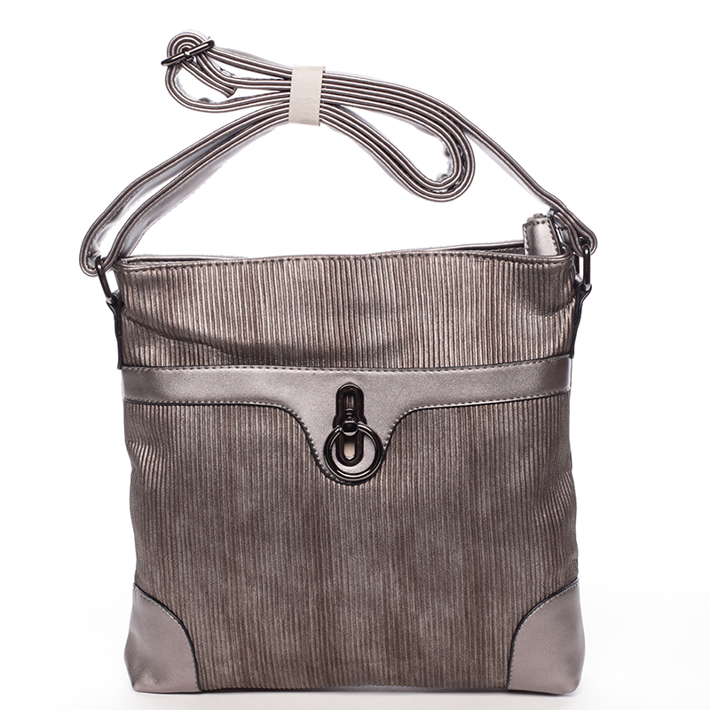Elegantní crossbody kabelka Noemi, šedá