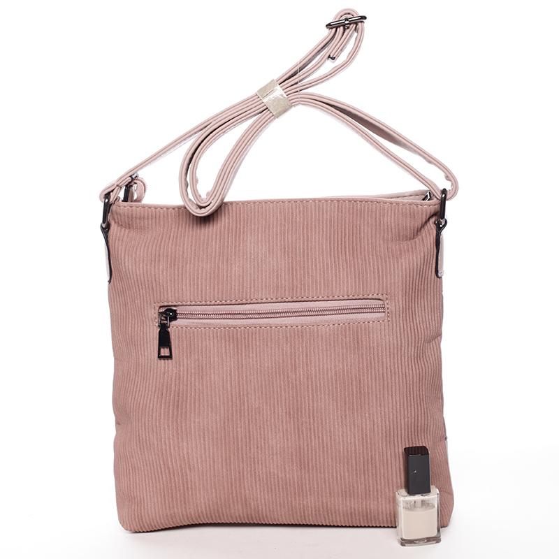 Elegantní crossbody kabelka Noemi, růžová