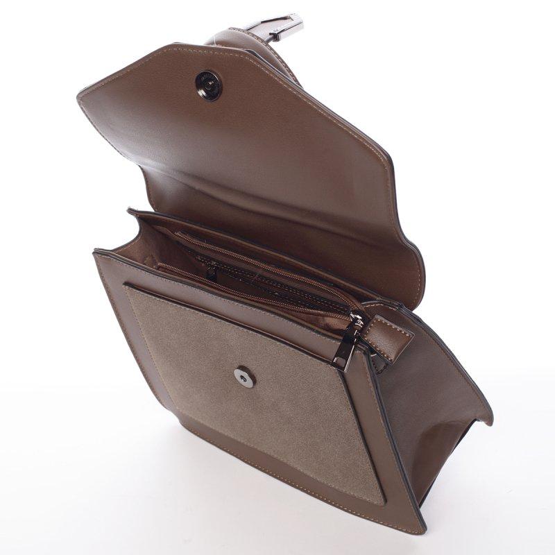 Dámská společenská kabelka Bianca, hnědá