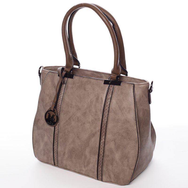 Charismatická dámská kabelka Chantel, hnědo-šedá