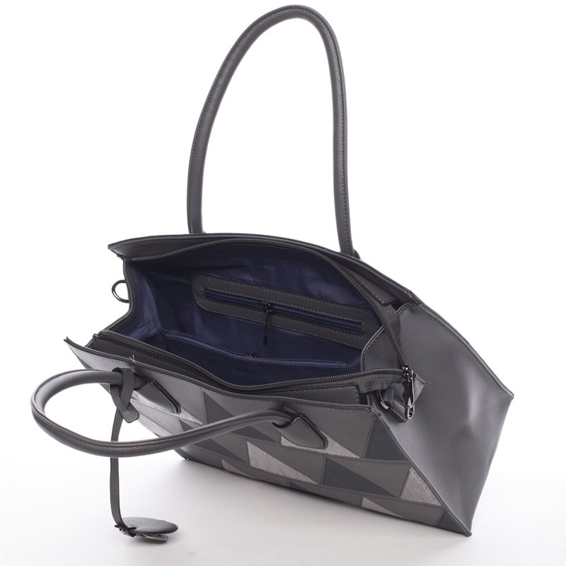 Dámská velmi elegantní kabelka Franceska, šedá