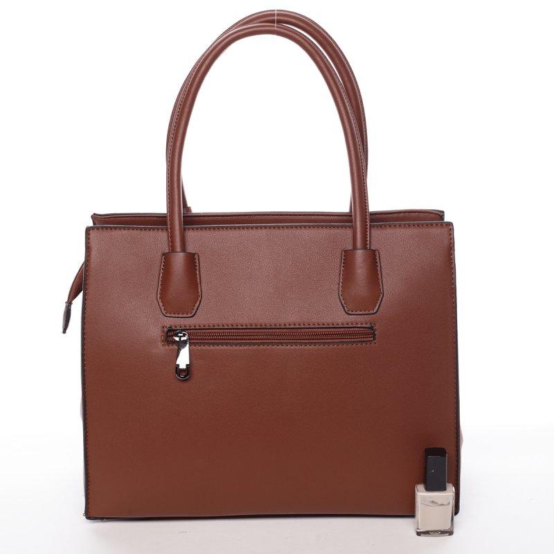 Dámská velmi elegantní kabelka Franceska, hnědá