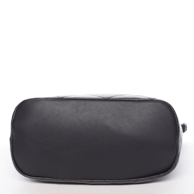 Lesklá dámská kabelka Donatella, černá