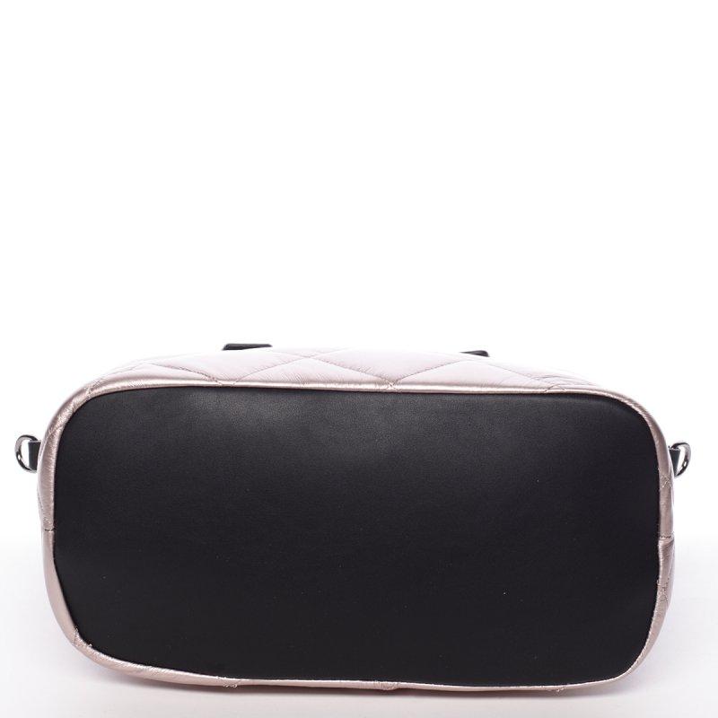 Lesklá dámská kabelka Donatella, světle růžová