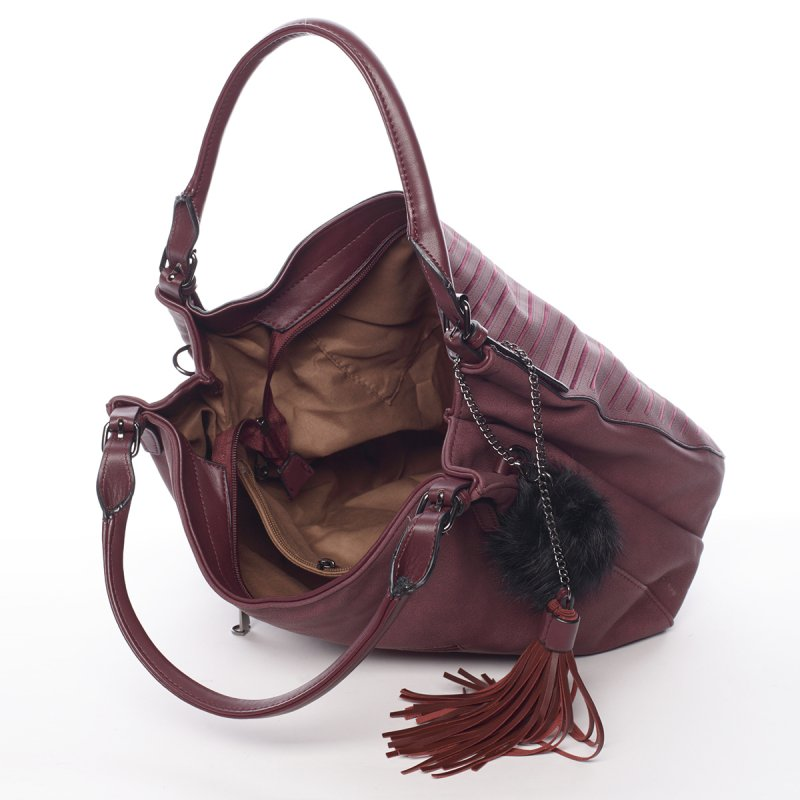 Dámská elegantní kabelka Florrie, vínově červená