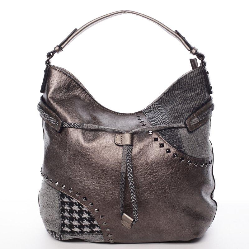 Měkká dámská kabelka Karmen, stříbrná