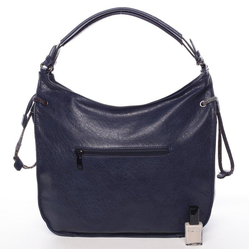 Elegantní podzimní kabelka Josette, námořnicky modrá